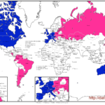World map of global dating destinations